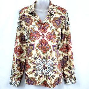 J.Crew Perfect Shirt Blouse Size 12 Paisley